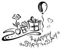 Compleanno, regali, illustrazione Fotografia Stock Libera da Diritti