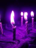 Compleanno viola Immagine Stock