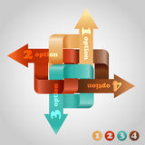 Complecated infographic scheme Royalty Free Stock Photography
