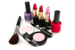 Complect makeup set Stock Photography