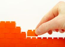 compleeting стена Стоковые Изображения RF