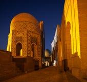 Complejo antiguo de edificios de Shakh i Zinda Fotografía de archivo