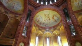 Complejo armenio de la iglesia en Moscú almacen de metraje de vídeo