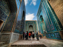 Complejo conmemorativo de Shah-I-Zinda. Uzbekistan. Fotografía de archivo