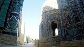 Complejo conmemorativo del Sah-Yo-Zinda, necrópolis en Samarkand, Uzbekistán Patrimonio mundial de la UNESCO metrajes