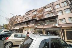 Complejo de apartamentos en el cuarto de Burgas de Sarafovo en Bulgaria Fotos de archivo libres de regalías
