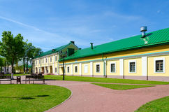 Complejo de edificios de la jesuita del colegio de la universidad de estado anterior de Polotsk ahora -, Bielorrusia Foto de archivo