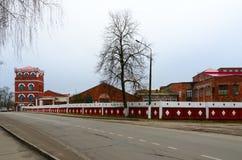 Complejo de edificios del año de la fábrica del papel de Dobrush de la construcción 1870, Bielorrusia Foto de archivo