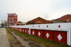 Complejo de edificios del año de la fábrica del papel de Dobrush de la construcción 1870, Bielorrusia Imagenes de archivo
