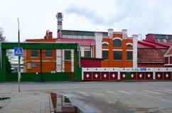 Complejo de edificios del héroe de la fábrica del papel de Dobrush del trabajo, Bielorrusia Foto de archivo
