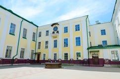 Complejo de edificios de la jesuita del colegio de la universidad de estado anterior de Polotsk ahora -, Bielorrusia Fotos de archivo libres de regalías