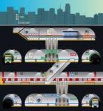 Complejo de la ciudad del subterráneo Foto de archivo libre de regalías