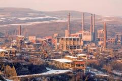Complejo de la metalurgia en Hunedoara Rumania imágenes de archivo libres de regalías