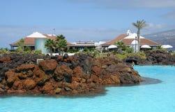 Complejo de la piscina del agua de mar, Tenerife Foto de archivo libre de regalías