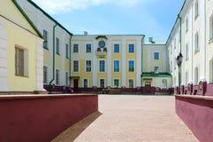 Complejo de la universidad de estado de Polotsk de los edificios del colegio anterior de la jesuita, Bielorrusia Fotos de archivo libres de regalías