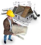 Complejo de viviendas del arquitecto y ilustración del vector