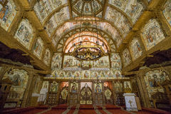Complejo del monasterio de Barsana Foto de archivo libre de regalías