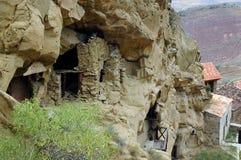 Complejo del monasterio de Gareji del pescante, Georgia Imagen de archivo