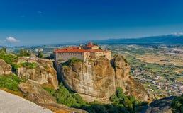 Complejo del monasterio de la montaña de Meteora Fotos de archivo libres de regalías