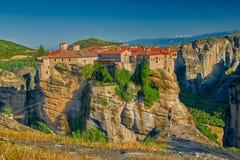 Complejo del monasterio de la montaña de Meteora Imagenes de archivo