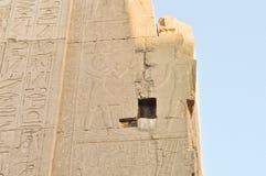 Complejo del templo de Karnak. Jeroglíficos Fotografía de archivo libre de regalías