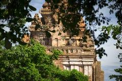 Complejo del templo de la torre del Cham del Po Nagar en la ciudad Nha Trang foto de archivo