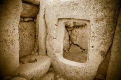 Complejo del templo de Megalitic - Hagar Qim en Malta Imágenes de archivo libres de regalías