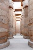 Complejo del templo EL-Karnak Imagen de archivo