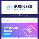 Complejo hermoso de la marca del concepto del negocio, global, Internet ilustración del vector