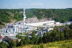 Complejo industrial, Fredriksten, Noruega Fotografía de archivo