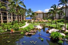 Complejo playero de Maui Imagen de archivo libre de regalías