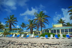 Complejo playero del Caribe, St. Croix, USVI Fotografía de archivo