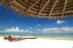 Complejo playero tropical Imagen de archivo libre de regalías