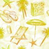 Complejo playero tropical - fondo inconsútil Foto de archivo libre de regalías