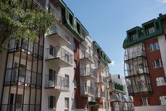Complejo residencial del país Foto de archivo libre de regalías