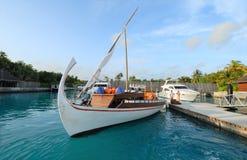 Complejos playeros de Maldives foto de archivo libre de regalías