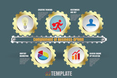 Complement of business-driven, Vector Illustration. Design template: Complement of business-driven, Vector Illustration Royalty Free Stock Images