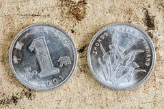 Complementare ed inverso della moneta cinese Immagine Stock Libera da Diritti