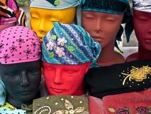 Complemento principal de las bufandas de las mujeres Fotos de archivo libres de regalías