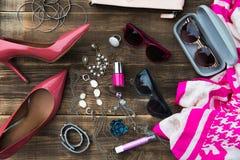 Complementos de moda de la mujer Foto de archivo