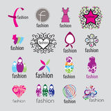 Complementos y ropa de los logotipos del vector ilustración del vector
