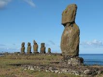 Complesso Archaeological sull'isola di pasqua. Immagini Stock Libere da Diritti