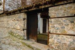 Complesso architettonico storico - il più vecchio quarto in Blagoev fotografia stock libera da diritti