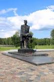 Complesso commemorativo in Khatyn, Bielorussia Fotografia Stock