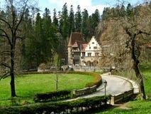 Complesso del castello di Peles, Sinaia, Romania Immagine Stock Libera da Diritti