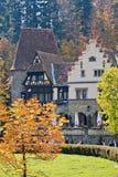Complesso del castello di Peles, Sinaia, Romania Immagini Stock Libere da Diritti
