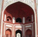 Complesso del mausoleo di Taj Mahal a Agra, India Immagini Stock