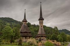 Complesso del monastero di Barsana Immagine Stock