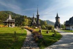 Complesso del monastero di Barsana Fotografie Stock
