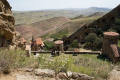 Complesso del monastero di David Gareja Fotografia Stock Libera da Diritti